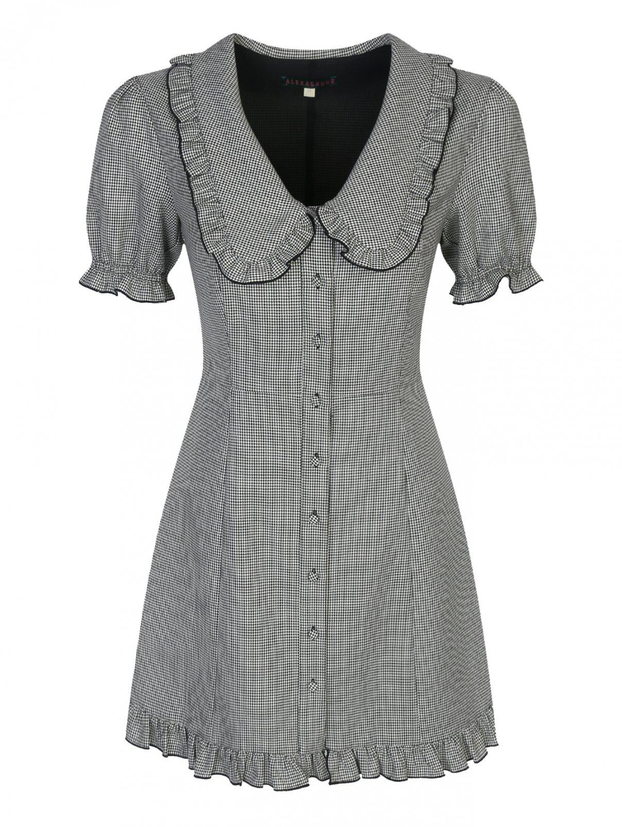 Платье-мини с узором из шерсти ALEXACHUNG  –  Общий вид