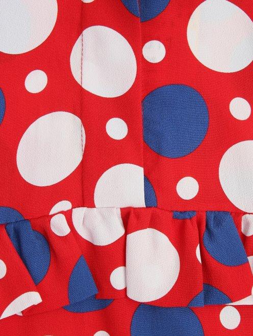 Платье из вискозы и шелка с узором - Деталь1