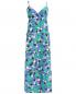 Платье-макси из шелка с узором P.A.R.O.S.H.  –  Общий вид
