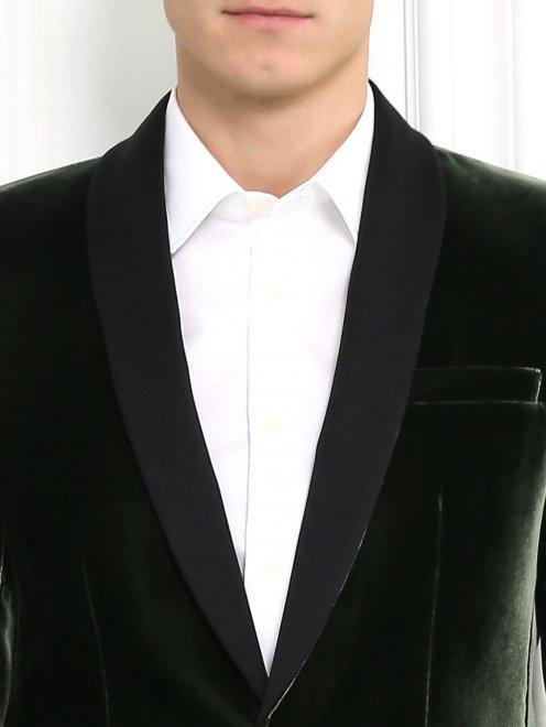 Однобортный вельветовый пиджак - Модель Общий вид1