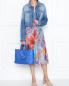 Платье-миди из шелка свободного кроя с узором Paul Smith  –  МодельОбщийВид