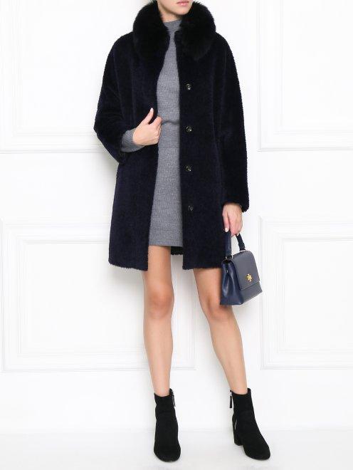 Платье-мини из шерсти свободного кроя - Общий вид