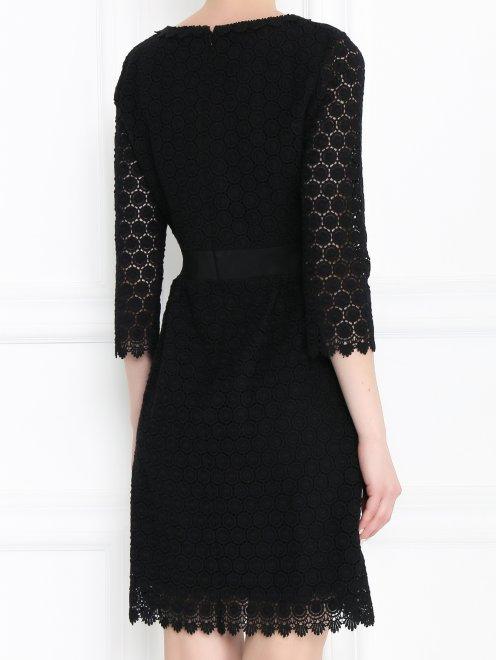 Платье-мини из хлопка с рукавами 3/4 - МодельВерхНиз1