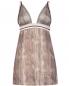 Комбинация из шелка и сетки с вышивкой и узором La Perla  –  Общий вид