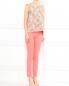 Узкие брюки из хлопка с боковыми карманами Moschino Cheap&Chic  –  Модель Общий вид