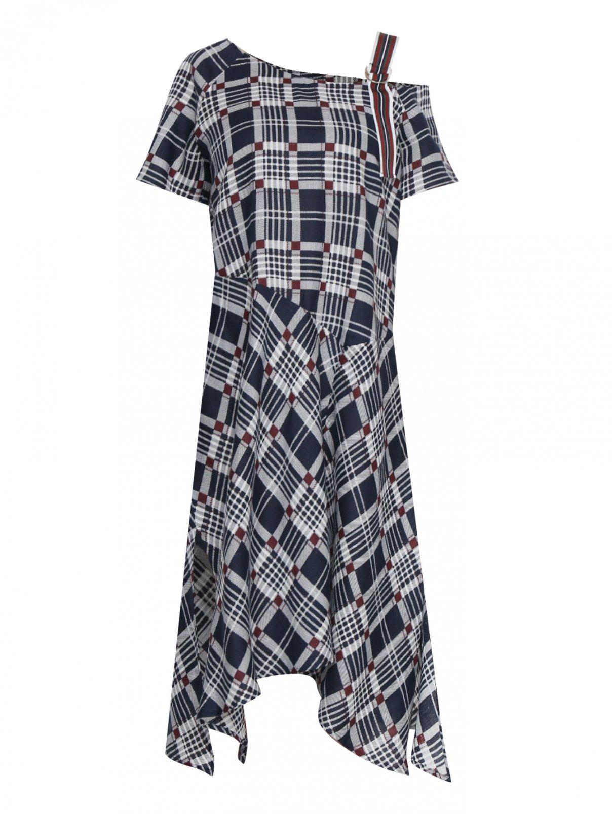 Платье из льна в клетку Persona by Marina Rinaldi  –  Общий вид