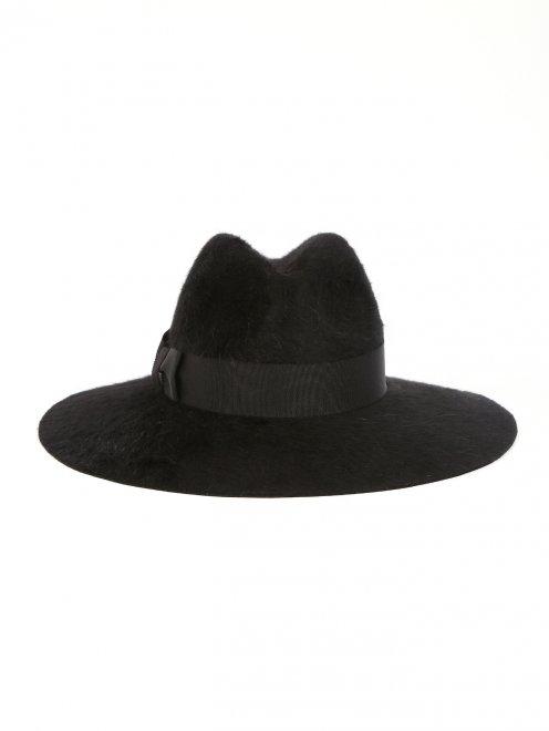 Шляпа из шерсти с широкими полями - Обтравка1