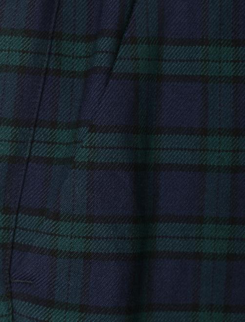 Укороченные брюки из шерсти в клетку - Деталь