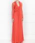 Платье-макси из шелка с драпировкой Alberta Ferretti  –  Модель Верх-Низ
