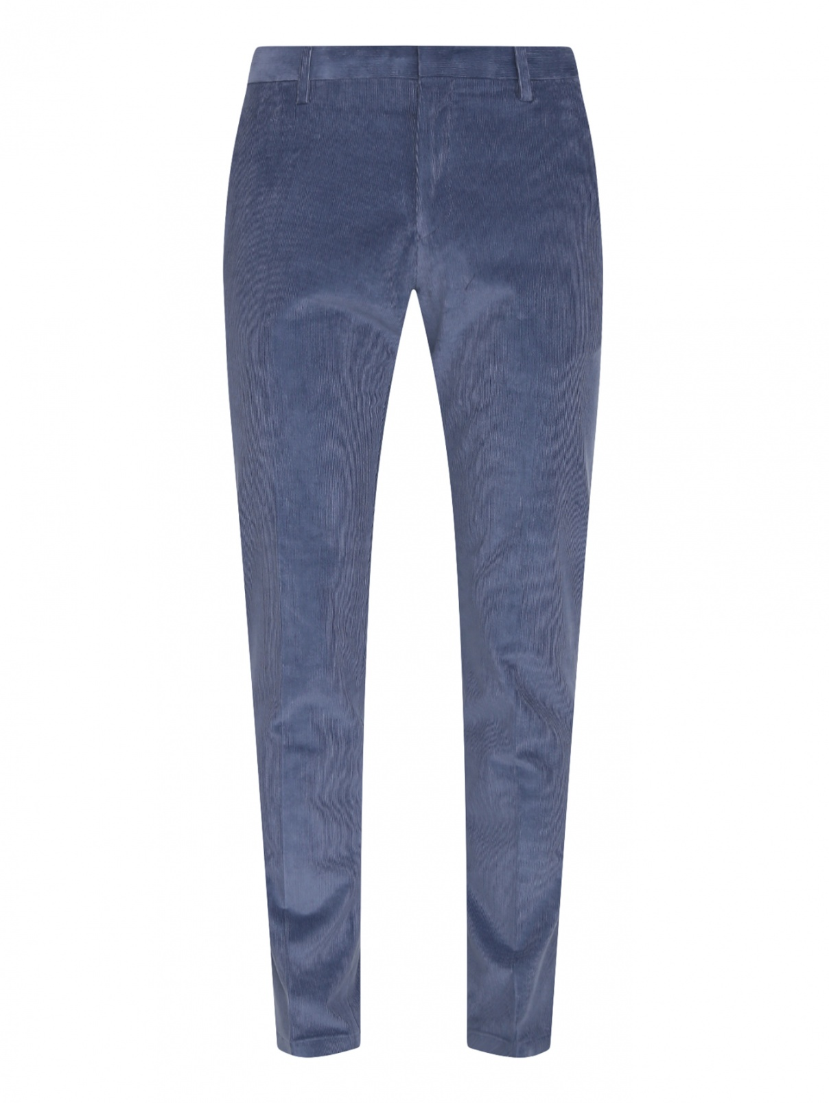 Классические брюки из хлопка Paul Smith  –  Общий вид  – Цвет:  Синий