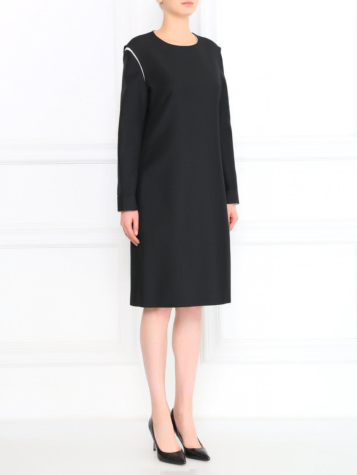 Платье из смешанной шерсти прямого кроя Jil Sander  –  Модель Общий вид