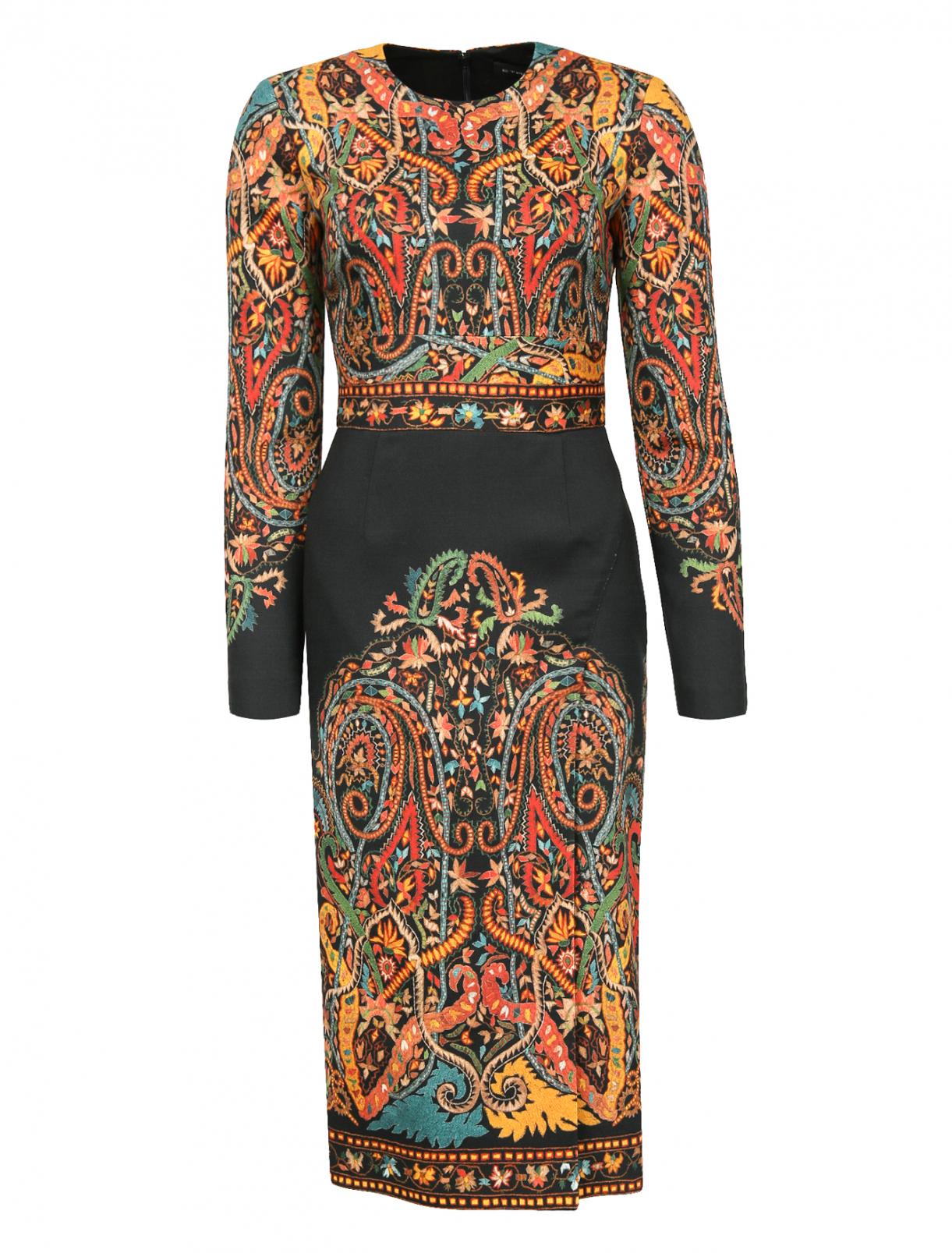 Платье-миди из шерсти с узором Etro  –  Общий вид