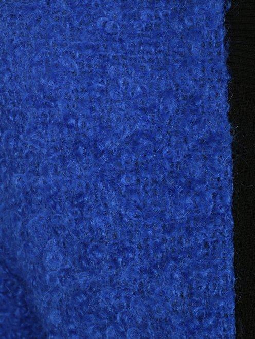 Бомбер из смесовой шерсти с контрастными пуговицами - Деталь