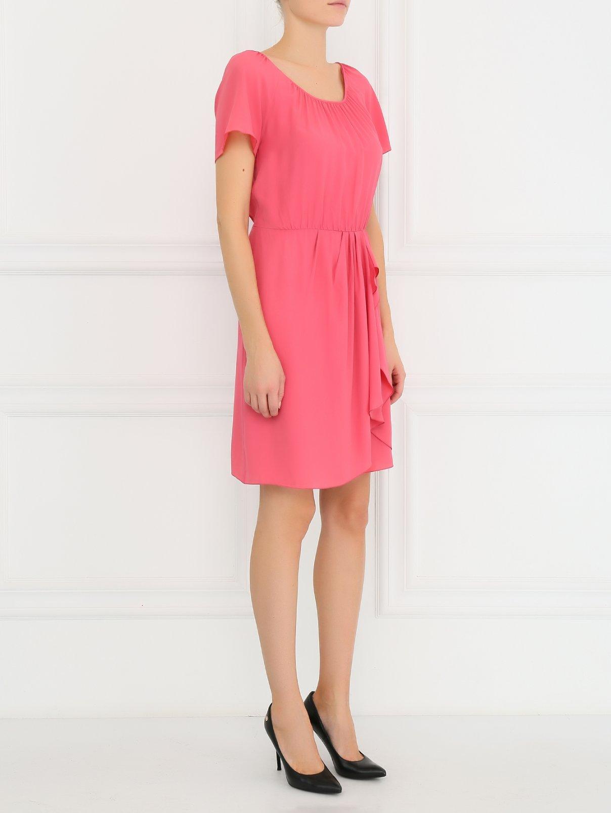 Платье-мини с драпировкой Philosophy di Alberta Ferretti  –  Модель Общий вид  – Цвет:  Розовый