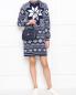 Платье-мини из смешанной шерсти с узором Love Moschino  –  МодельОбщийВид