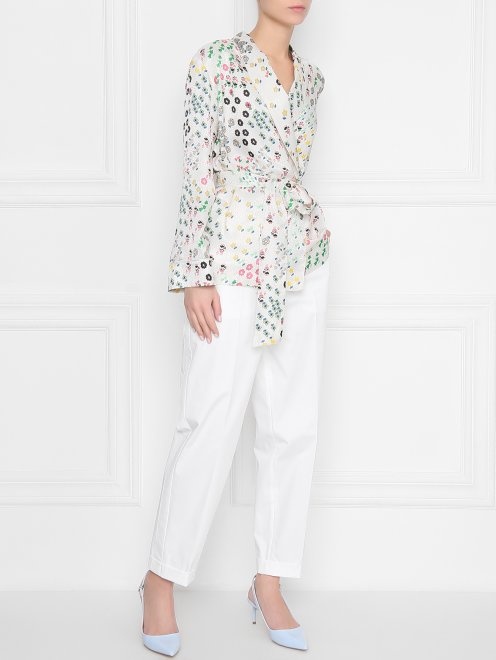 Жакет из смесового шелка в пижамном стиле - Общий вид