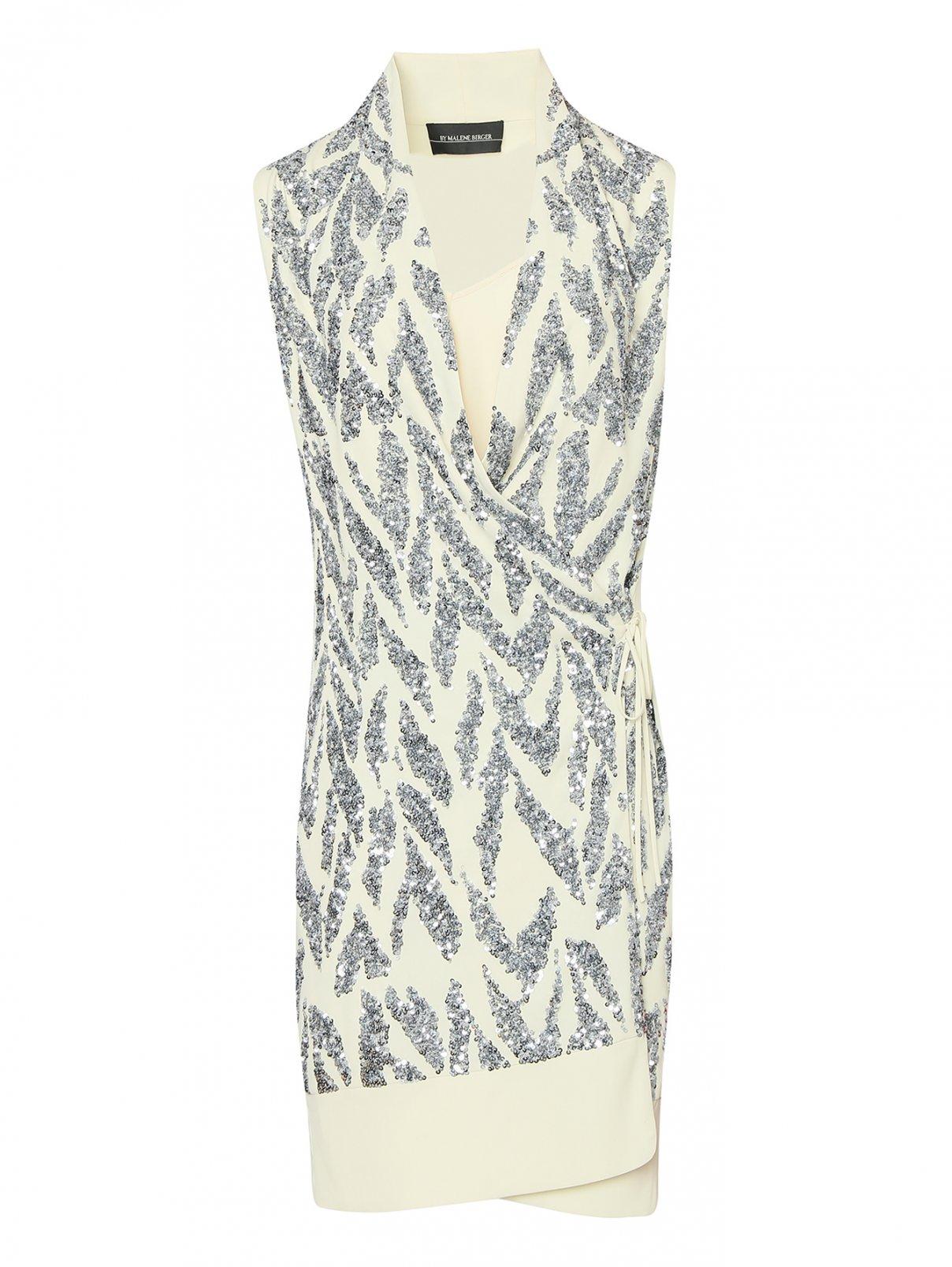 Платье с запахом декорированное пайетками By Malene Birger  –  Общий вид