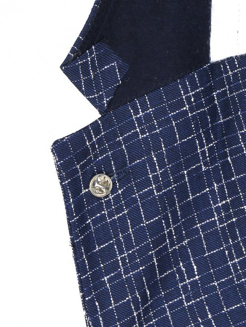 Пиджак с узором из шерсти и шелка - Деталь