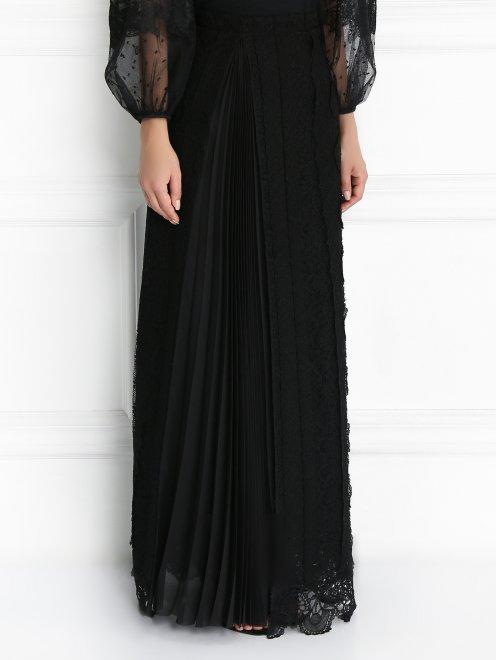 Кружевная юбка из шерсти - Модель Верх-Низ