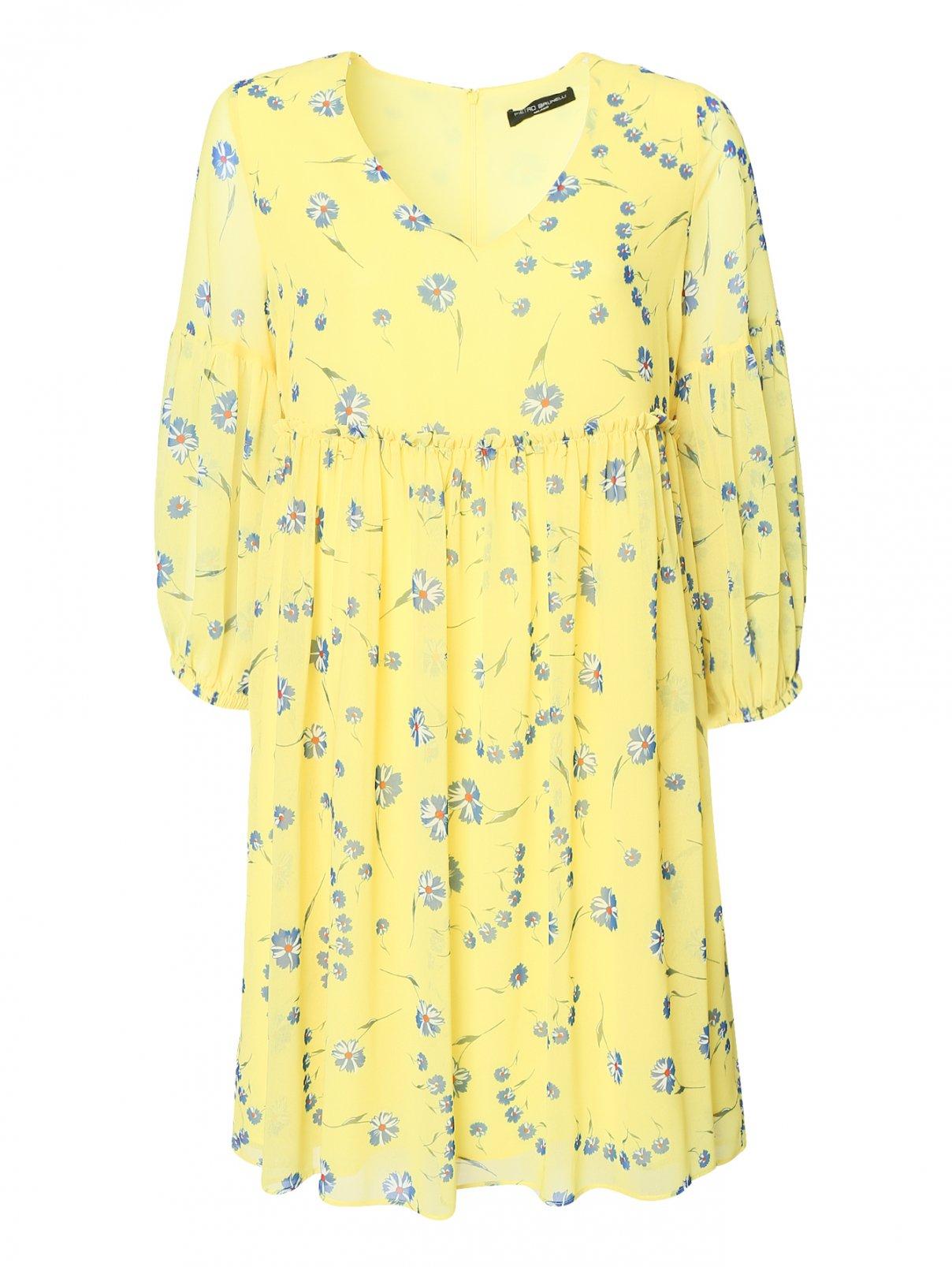 Платье с цветочным узором Pietro Brunelli  –  Общий вид