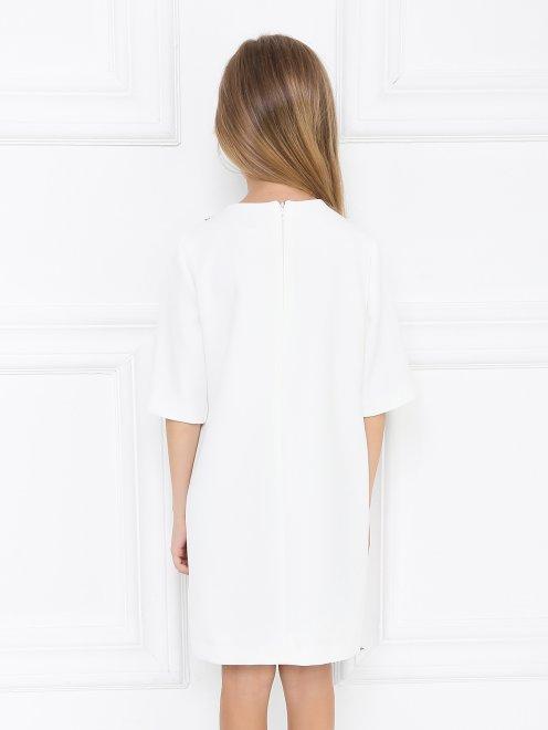 Платье-мини с твидовой вставкой - МодельВерхНиз1