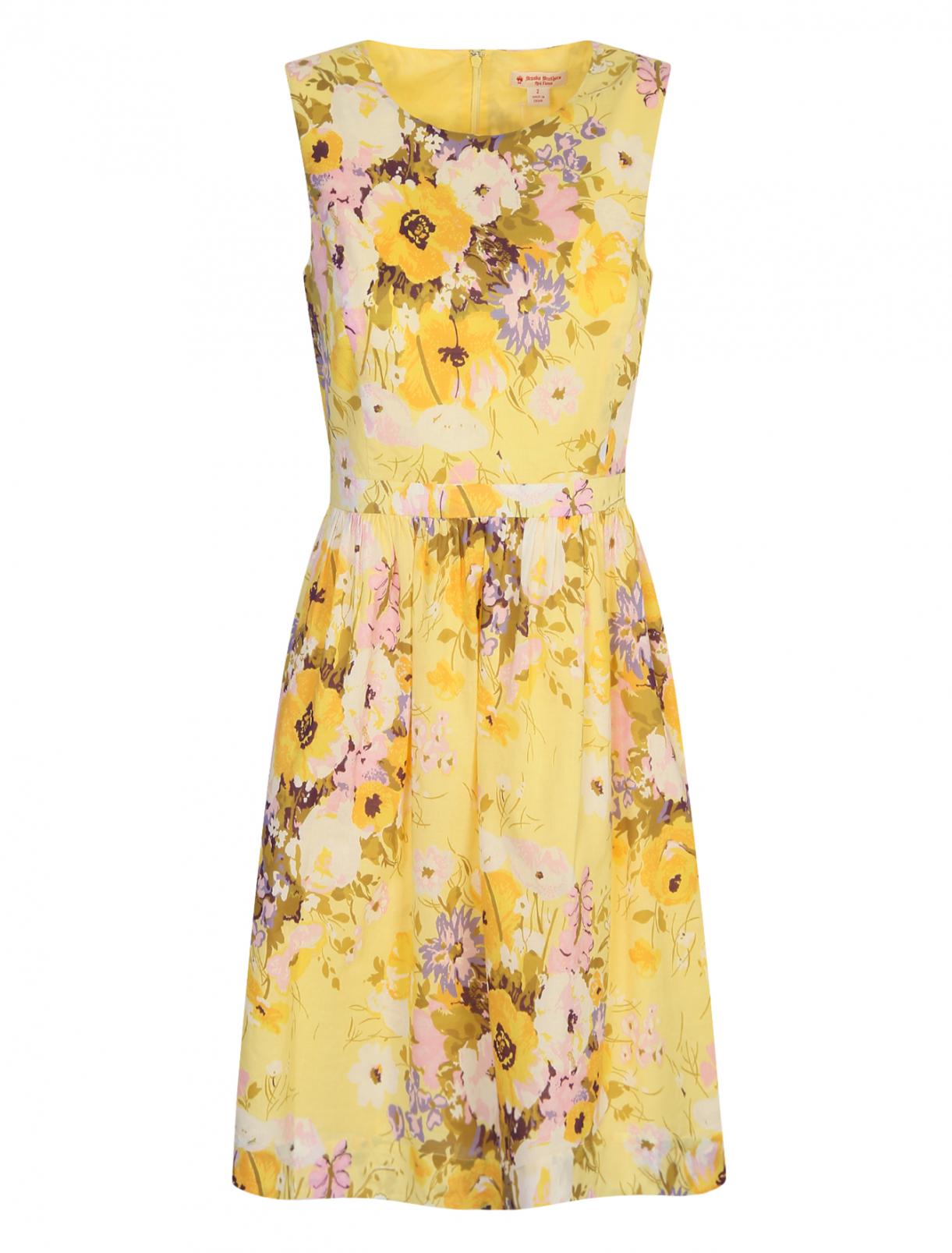 Платье из хлопка с цветочным узором Brooks Brothers  –  Общий вид