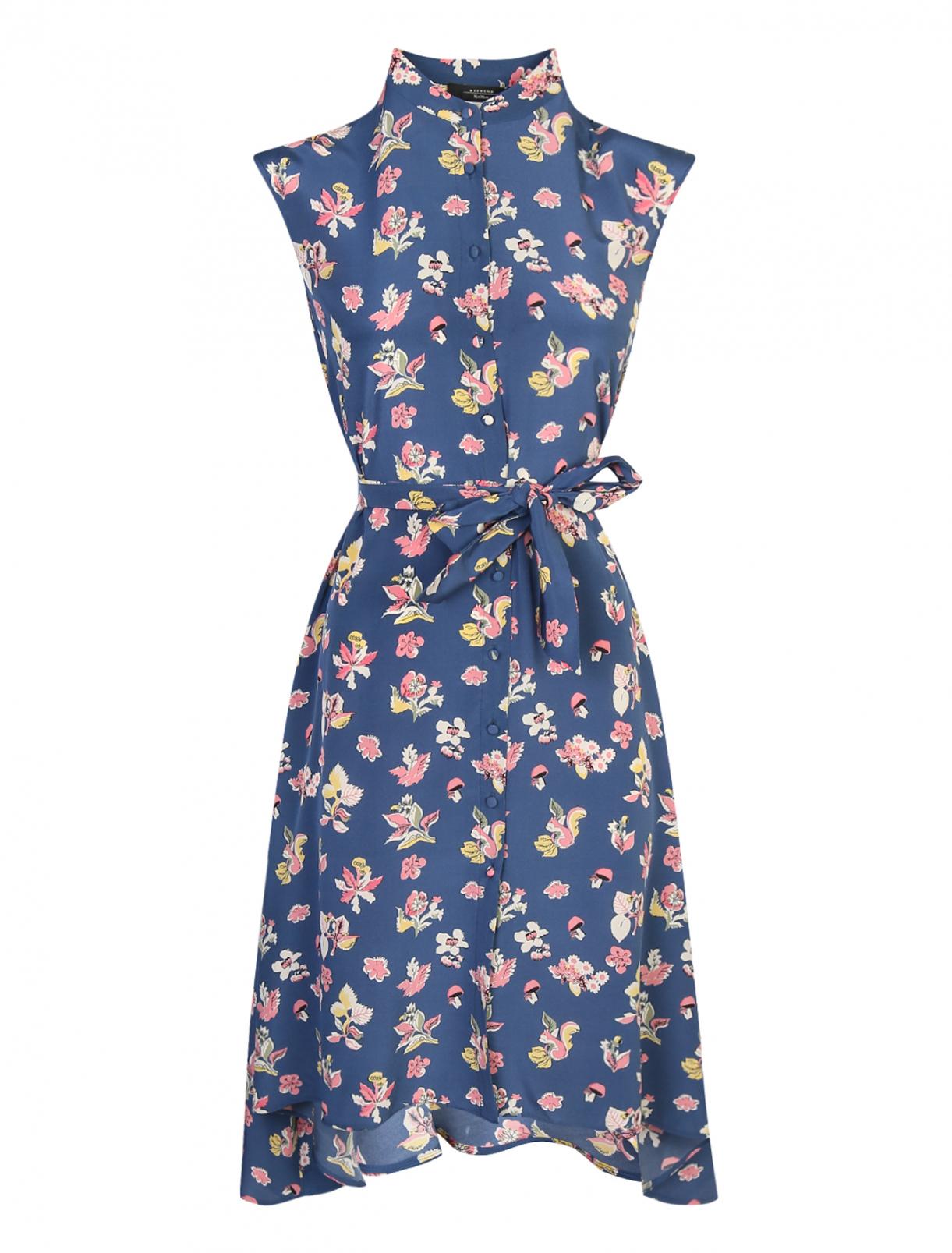 Платье-макси из шелка с узором без рукавов Weekend Max Mara  –  Общий вид