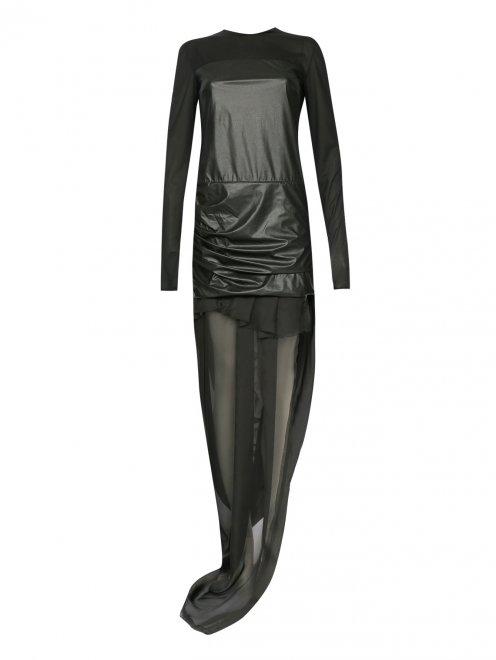 Платье-макси с длинными рукавами - Общий вид