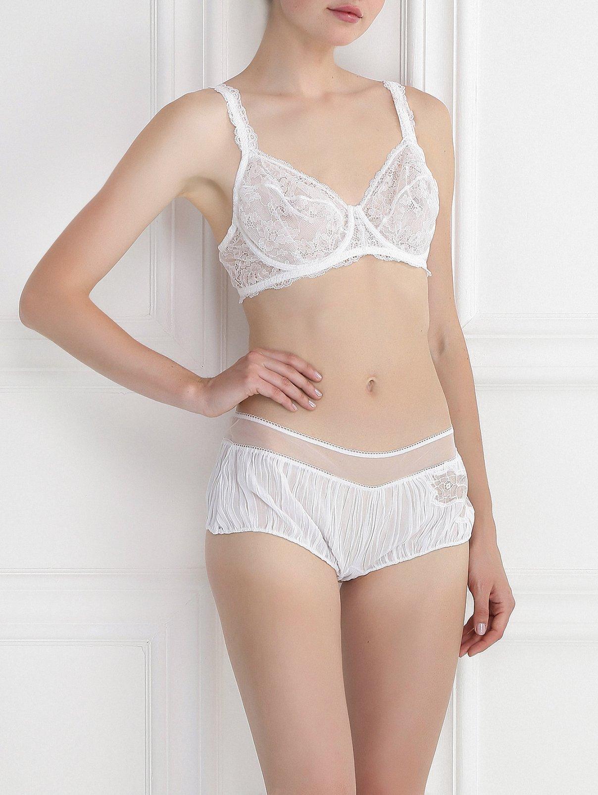 Трусы-шорты с цветочной вышивкой La Perla  –  Модель Общий вид