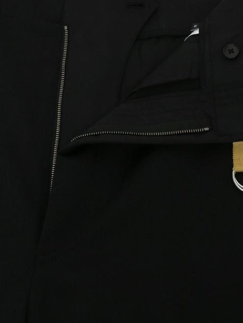 Брюки из шерсти с контрастной отделкой - Деталь1
