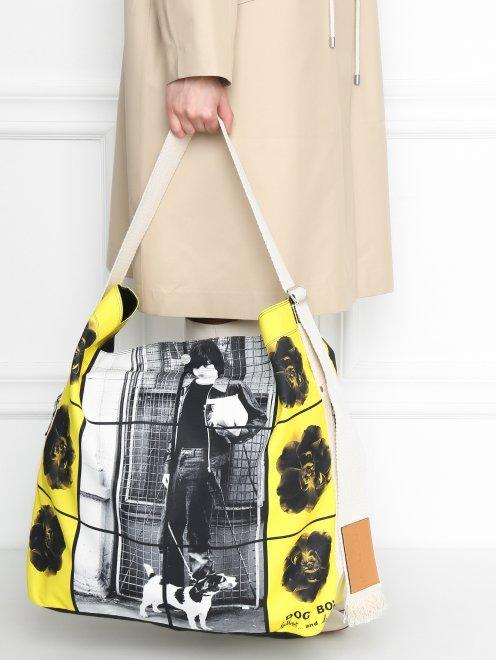 Большая сумка из хлопка с узором - МодельВерхНиз