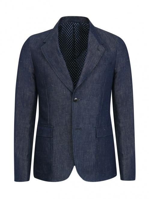 Пиджак однобортный из денима - Общий вид
