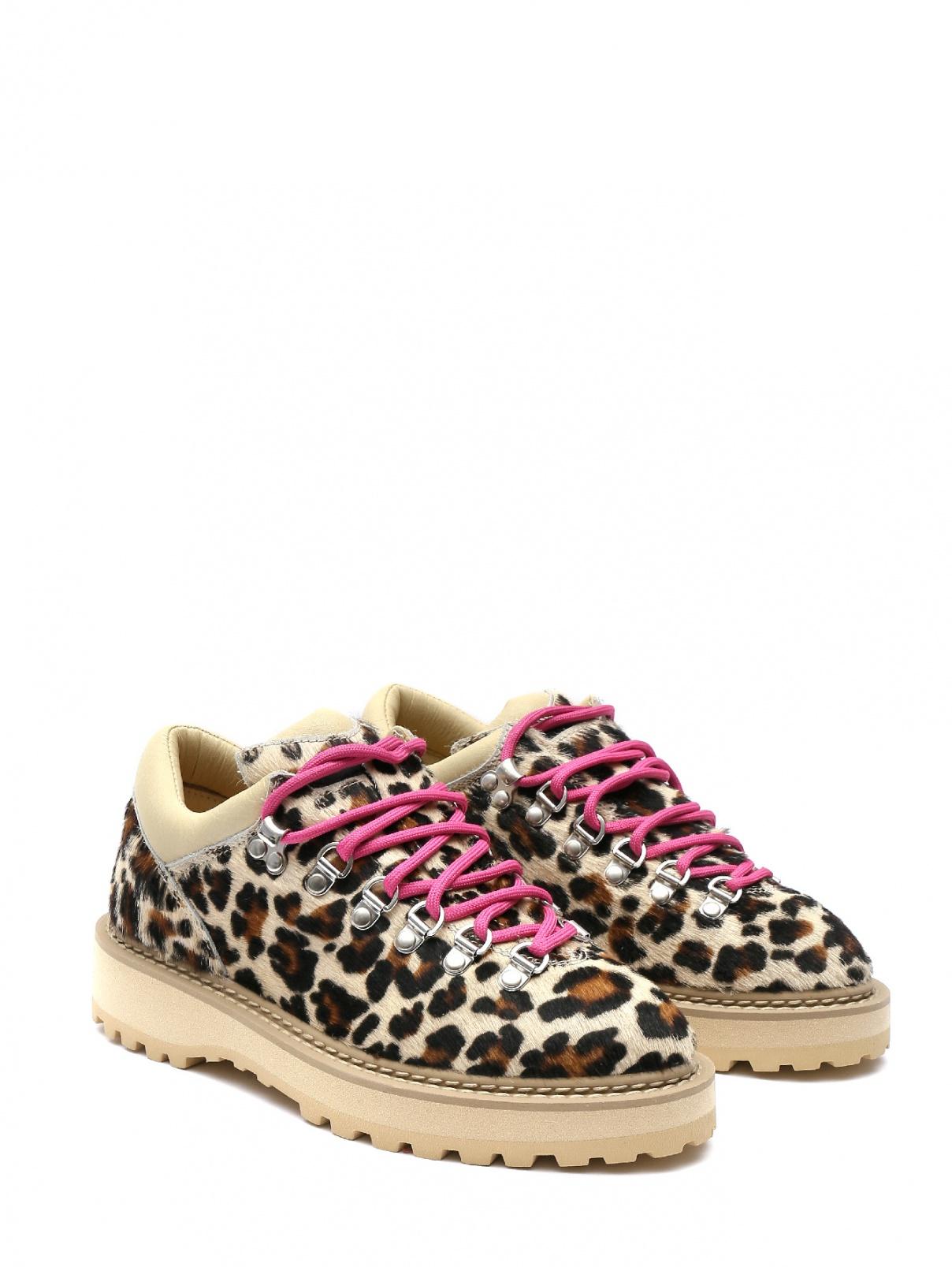 Ботинки на шнуровке с животным узором Diemme  –  Общий вид  – Цвет:  Узор