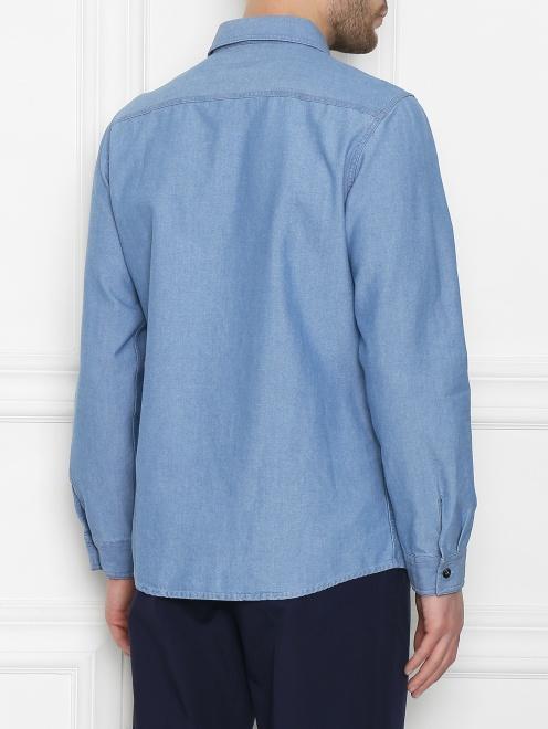 Рубашка хлопковая прямого кроя - МодельВерхНиз1